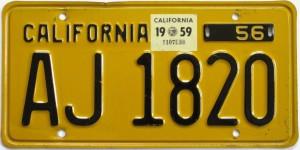 California Vintage Plate 1