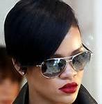 Rihanna In Her Ray Ban Sunglasses