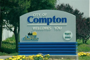 Compton California City Marker