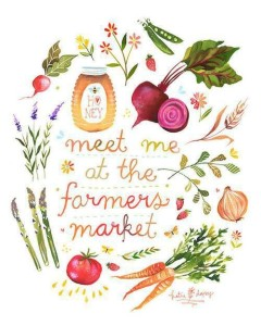 Fruits and Vegetables Farmers Market Sign