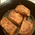 Short Ribs Browned In Iron Skillet