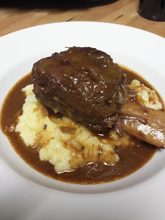 Short Ribs Plated In One Dish